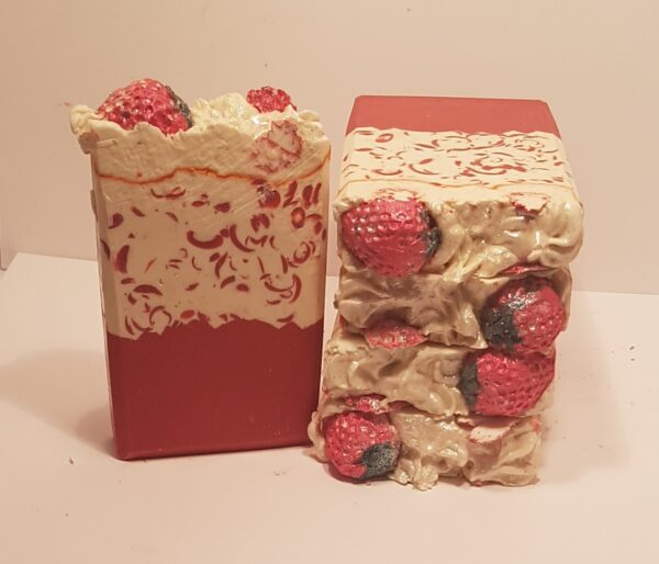 goats milk soap strawberry and champagne soap