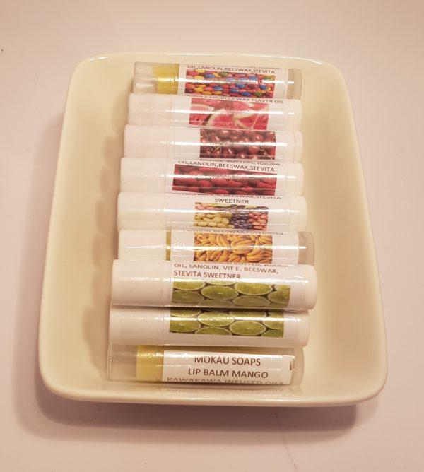 kawakawa infused lip balms