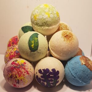 luxury goats milk bath bombs