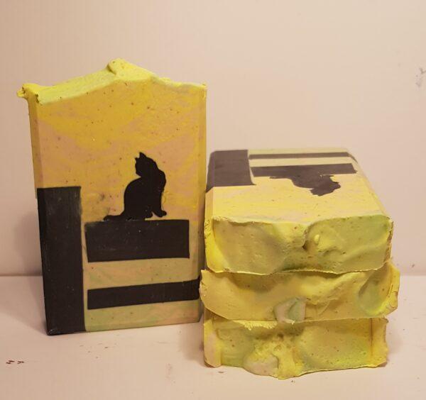 cat on fence soap goats milk soap
